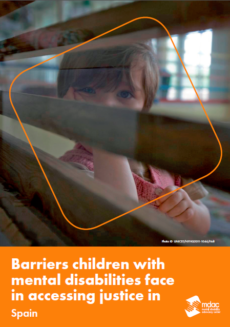 Front cover: Access to justice for children with mental disabilities - Factsheet - Spain