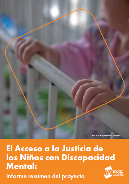 Front cover: Access to justice for children with mental disabilities - Report summary - Spain