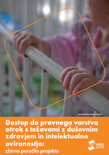 Front cover: Access to justice for children with mental disabilities - Report summary - Slovenia