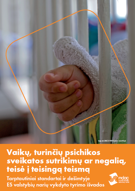 Front cover: Access to justice for children with mental disabilities - Standards and Findings - Lithuanian