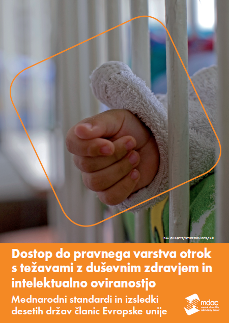 Front cover: Access to justice for children with mental disabilities - Standards and Findings - Slovenian